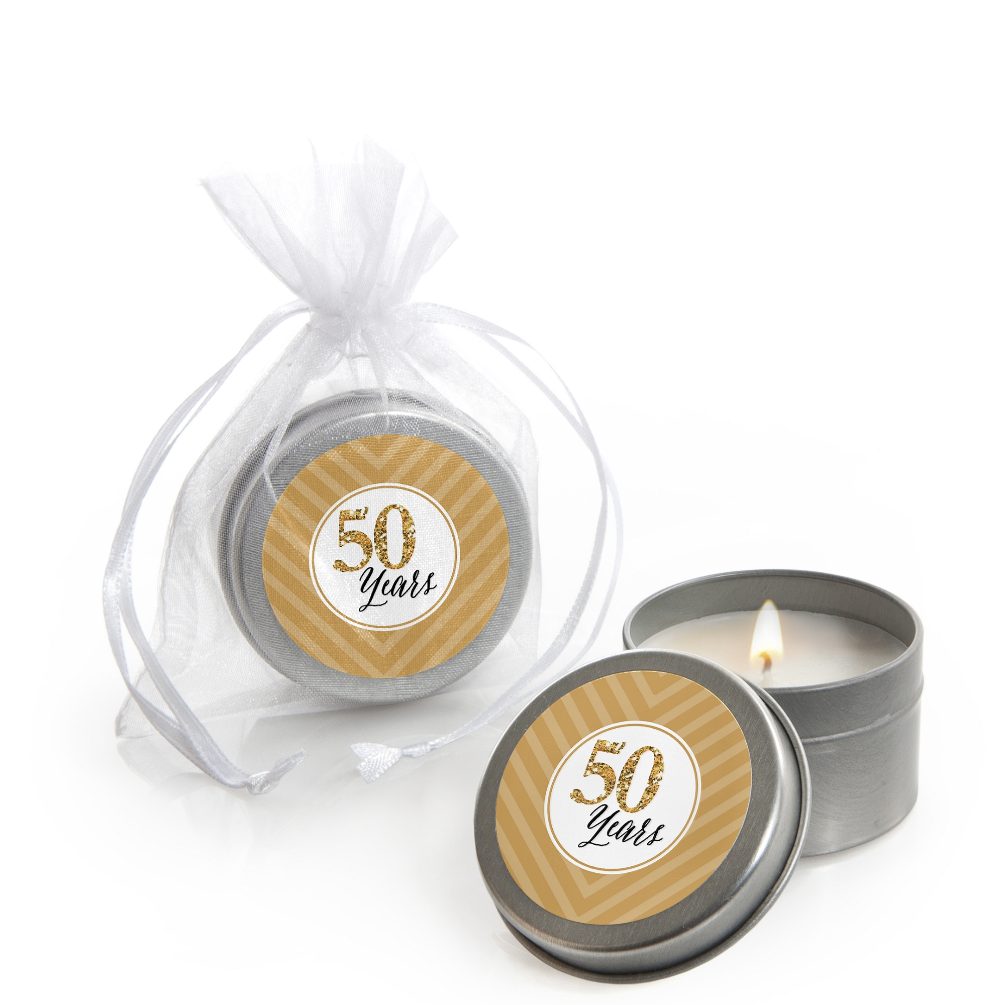 We Still Do - 50th Wedding Anniversary - Candle Tin Party Favors (Set of 12)