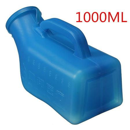Blue Male Car Caravan Urinal Urine Bottle Toilet Camping Travel Bed Tent Pee 1000ml