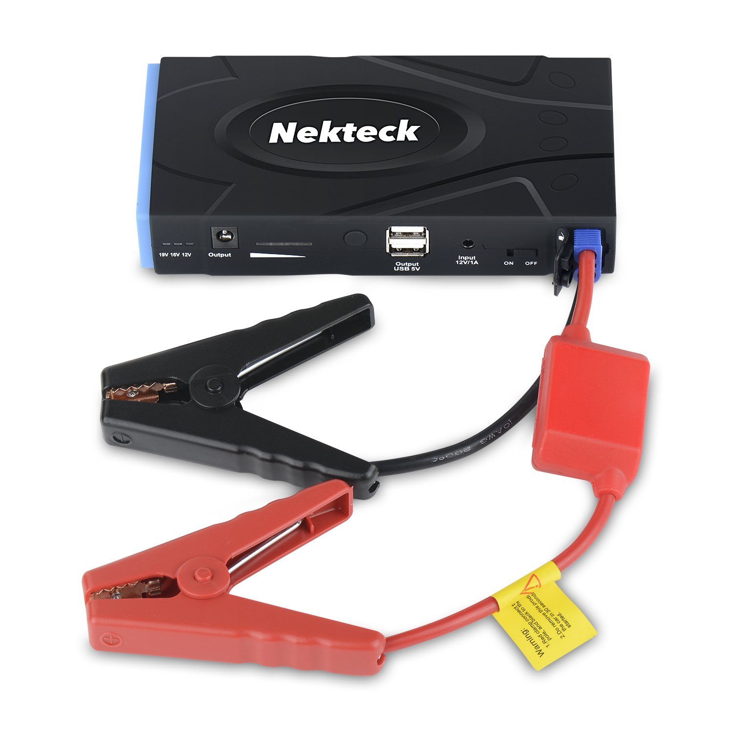 Nekteck Multifunction Car Jump Starter Portable Power Bank External Battery Charger 600A Peak with 16800mAh - Emergency Auto Jump Starter for Truck Van SUV Laptop Smartphone USB Device and More