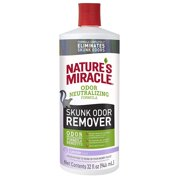 Nature's Miracle Skunk Odor Remover Pour with Neutralizing Formula and Lavender Scent, 32 oz