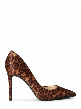 Jessica Simpson prizma Natural Pointed Toe D'orsay Dress Pumps Leopard
