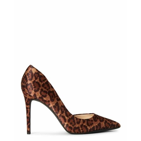 Jessica Simpson prizma Natural Nude Pointed Toe D'orsay Dress Pumps Leopard Pat Pointed Toe Pump