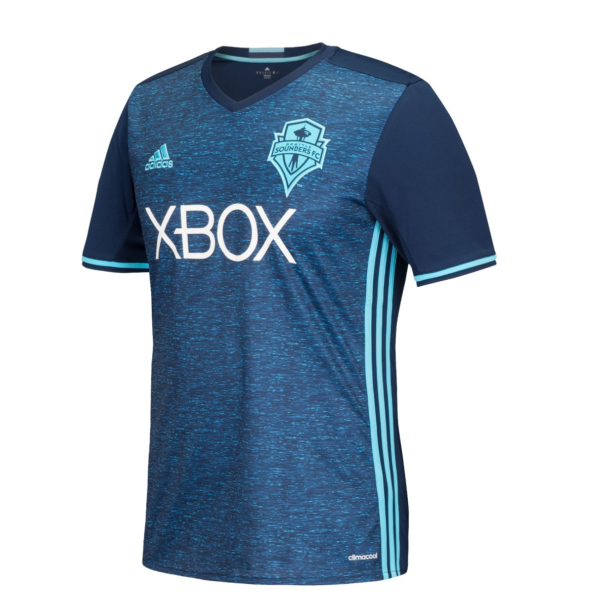 Seattle Sounders Adidas MLS Climalite On-Field Replica S/S Jersey - Light Blue
