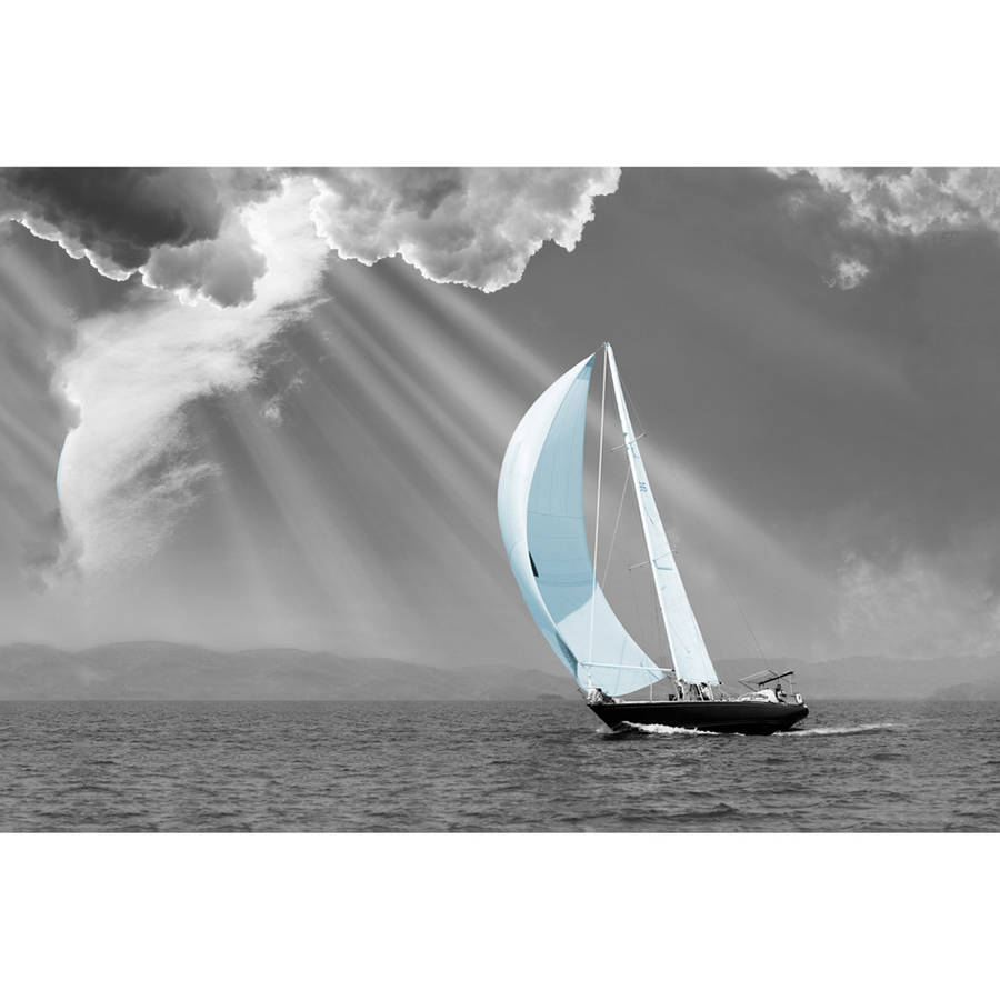 "Portfolio Canvas Decor ""Canvas Wall Art, Sunbeam Sail"" by Monte Nagler Framed and Stretched Ready-to-Hang, 24x36"