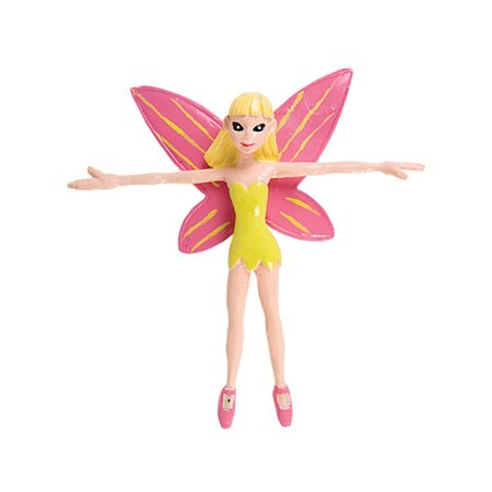 """New 4"""" Pink Bendable Fairy Pixie Toy Figure Decoration"""