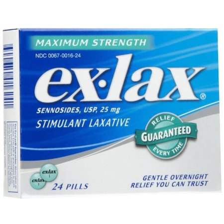 Ex Lax Stimulant Maximum Strength Laxative  24Ct
