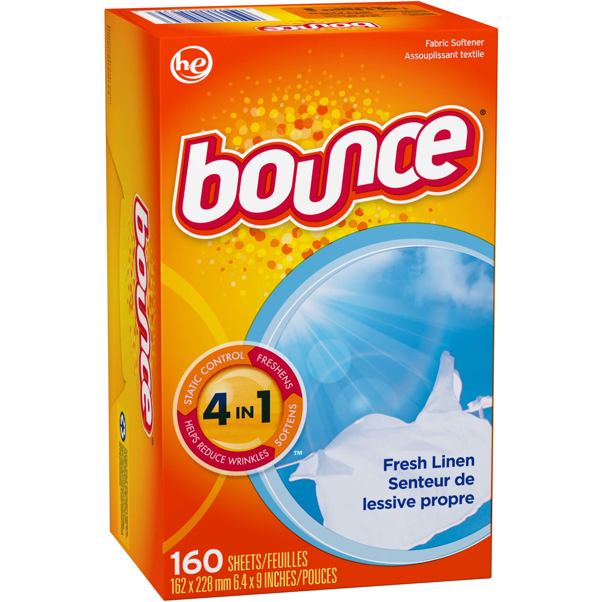 Bounce Fresh Linen Fabric Softener Dryer Sheets (Choose your count)