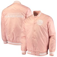 Golden State Warriors Starter Satin Full-Snap Jacket - Pink