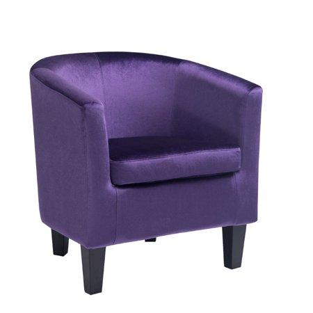 Kingfisher Lane Velvet Tub Chair in ple ()