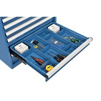 "Divider Kit for 4""H Drawer of Modular Drawer Cabinet, 3 Long & 6 Short , Blue"