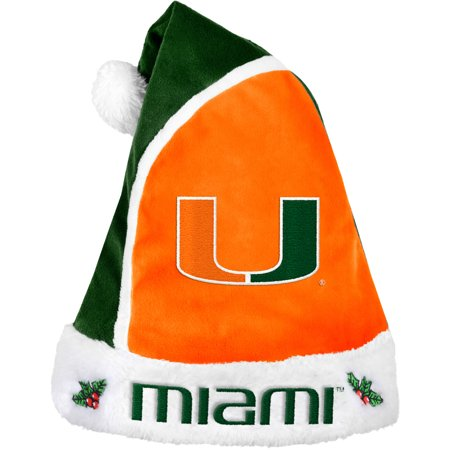 Forever Collectibles NCAA 2015 Santa Hat, University of Miami Hurricanes