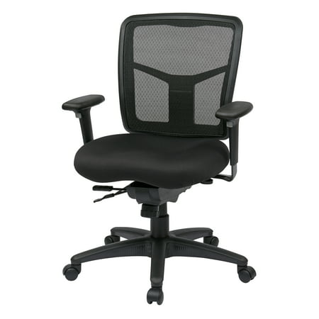 ProGrid Mid-Back Manager Chair, Black (Global Managers Chair)