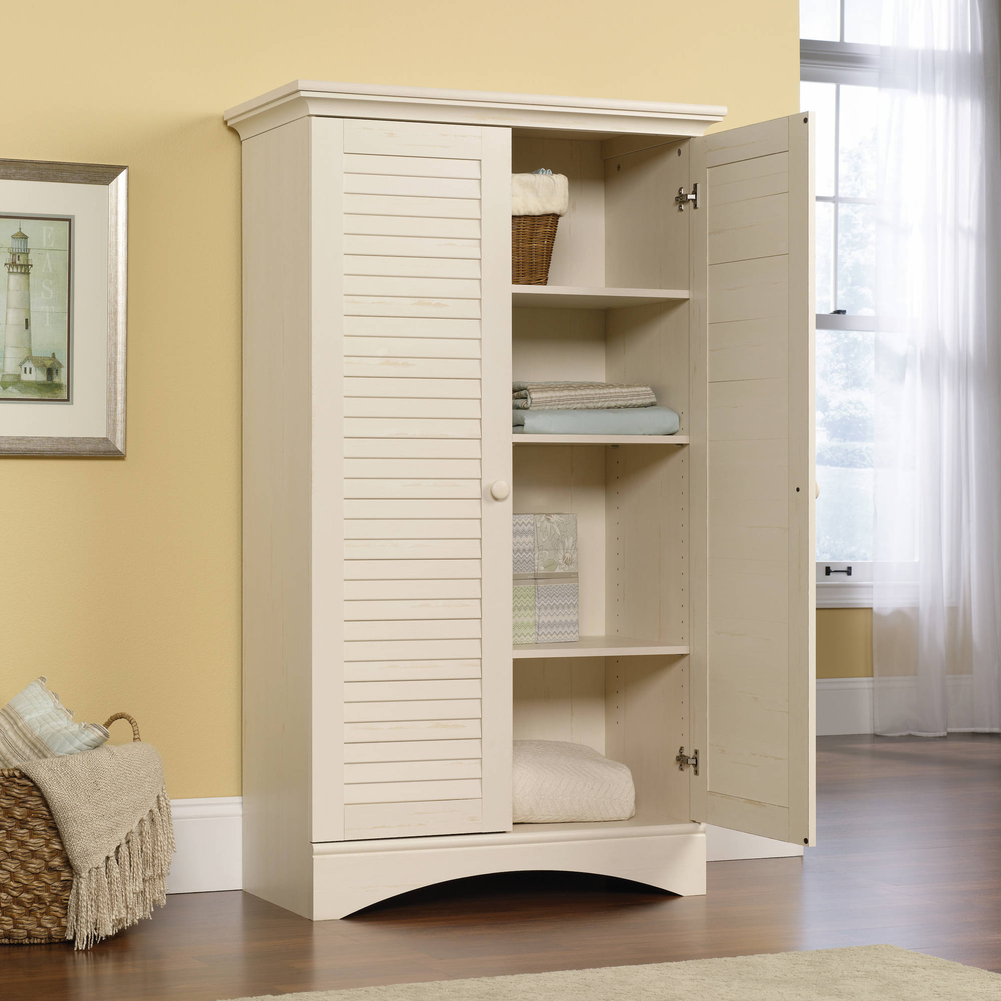 Details About Pantry Storage Cabinet Laundry Room Organizer Tall Kitchen  Utility Wood Shelves