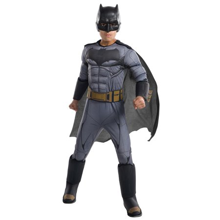 Justice League Movie - Batman Deluxe Child Costume - Batman Halloween Costumes Uk