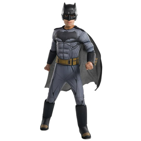Justice League Movie - Batman Deluxe Child Costume S - Batman Rubber Costume
