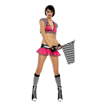 Racer Girl Outfit Costume, Medium & Large - image 1 of 1