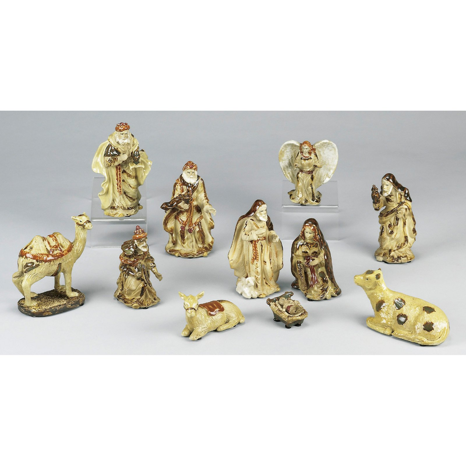 AA Importing 11 Piece Ceramic Nativity Set by