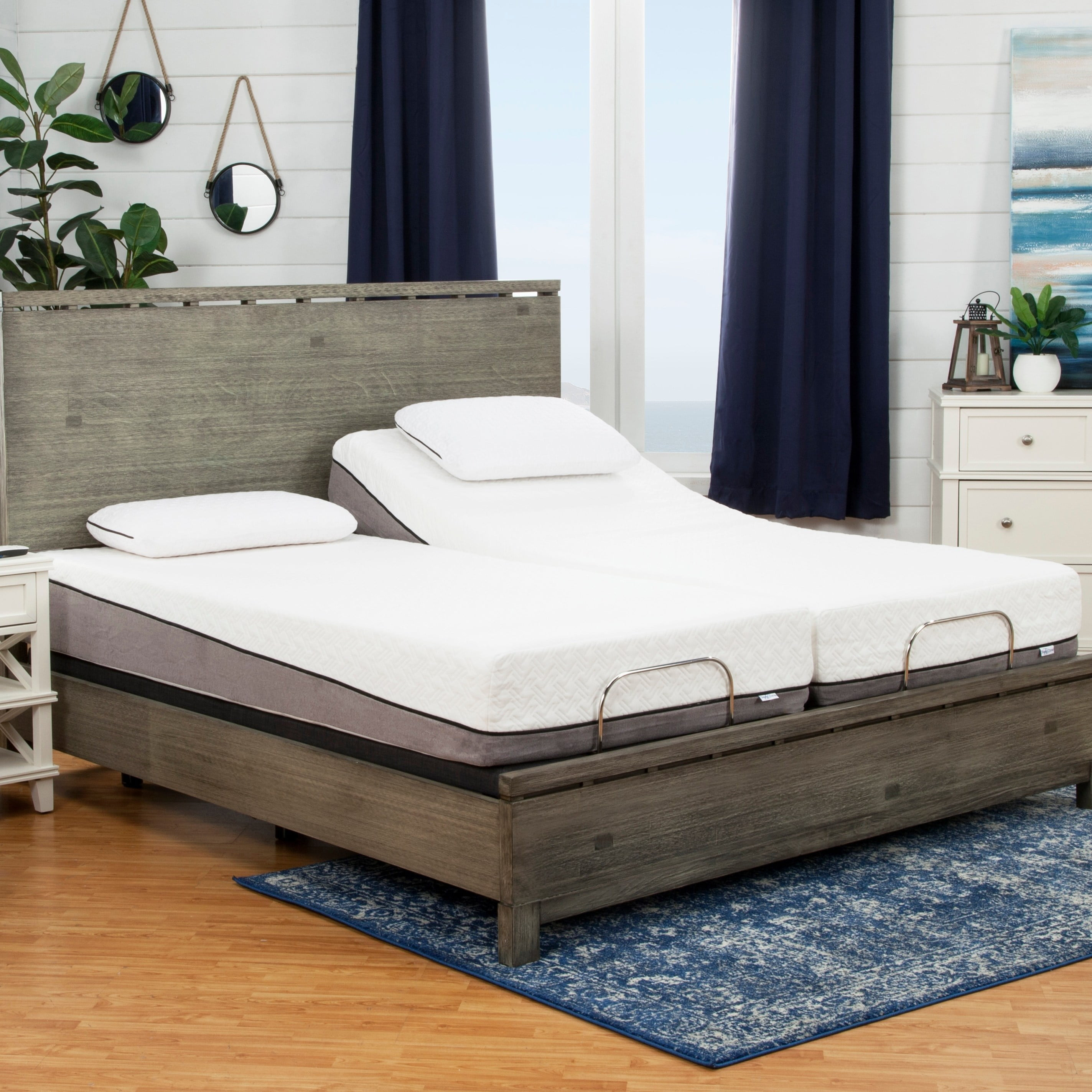 Sleep zone huntington 10 inch split king size memory foam for Mobilia king size bed