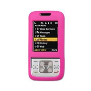 Rubberized Hard Plastic Protective Case for Samsung M330 - Hot Pink