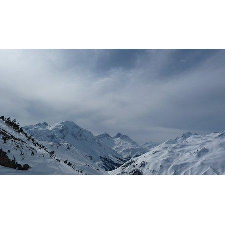 Canvas Print Austria Mountain Landscape Hiking Snow Winter Ski Stretched Canvas 10 x 14 (10 Hitting Photo)