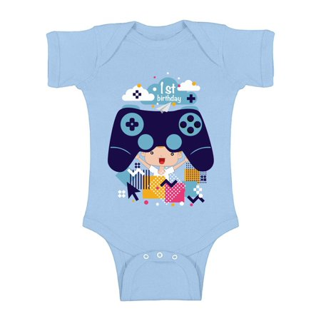 Awkward Styles Video Game Birthday Baby Bodysuit Short Sleeve 1st Birthday Party One Piece Top Cute Gamer Birthday Party Birthday Gifts for 1 Year Old Video Game One Piece for Baby First Birthday](Halloween Party Games For 14 Year Olds)