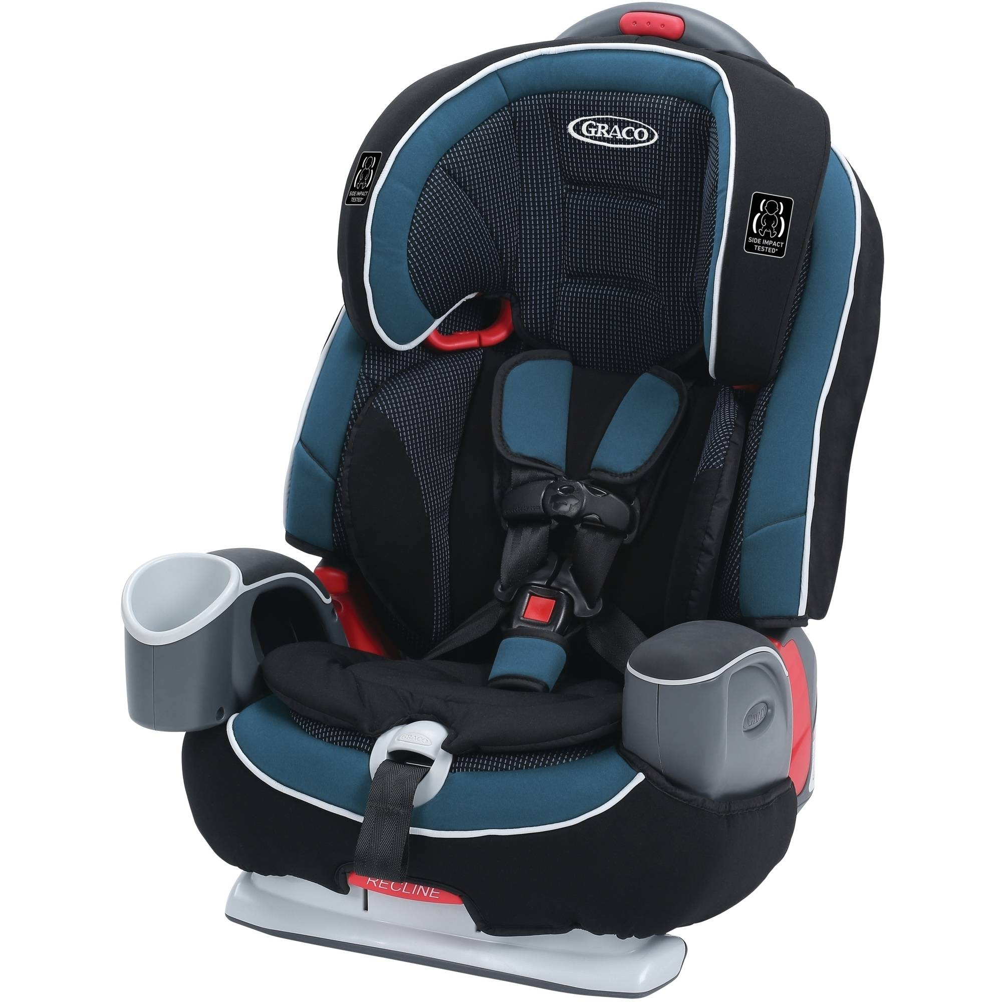 Graco Nautilus 65 LX 3-in-1 Convertible Harness Booster Car Seat, Zell