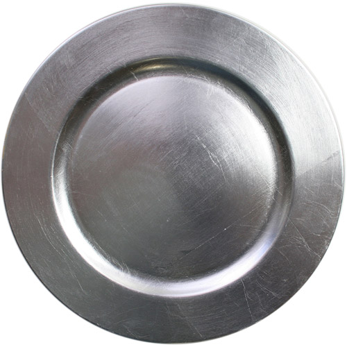 ChargeIt! by Jay Silver Round Charger Plates, Set of 8