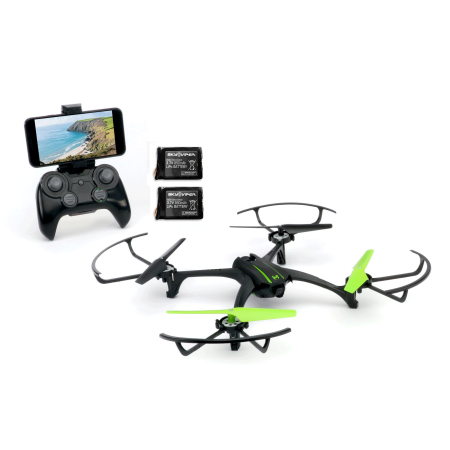 Sky Viper Scout Live Streaming & Video Camera RC Drone Quadcopter & 2 Batteries