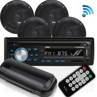 Marine Radio Bluetooth, Black Stereo Kit Bluetooth Marine Stereo Receiver