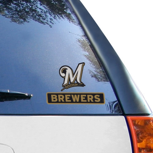 WinCraft Milwaukee Brewers 4'' x 5'' Perfect Cut Decal - No Size