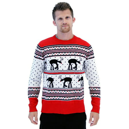 Star Wars AT-AT Reindeer Ugly Christmas Sweater ()
