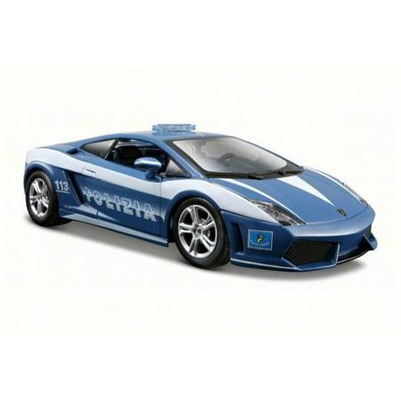 Lamborghini Gallardo LP 560-4 Polizia, Blue/White - Maisto 31299 - 1/24 Scale Diecast Model Toy Car