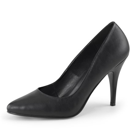 Womens Black Shoes Classic Pumps Matte High Heels Pointed Toe 4 Inch Heels](6 Inch Black Pumps)