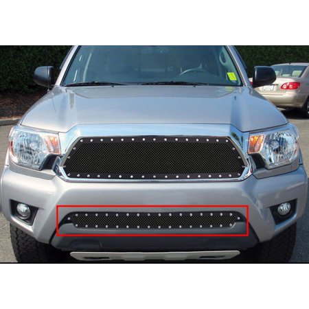 2012-2015 Toyota Tacoma (Not For X-Runner) Stainless Steel Black Lower Bumper Wire Mesh Rivet Grille