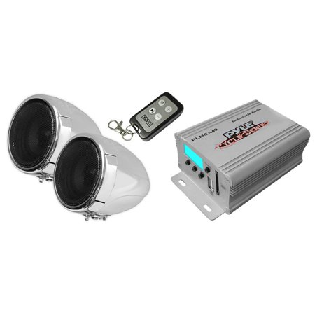 PYLE PLMCA40 - Motorcycle Speaker and Amplifier System - 100 Watt Weatherproof w/Two 3