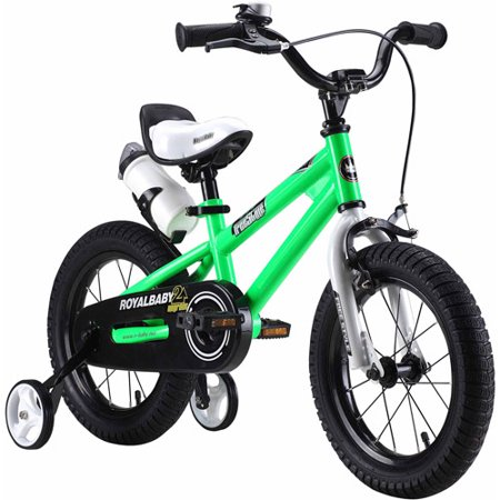RoyalBaby BMX Freestyle Kids Bike, Boy's Bikes and Girl's Bikes with training wheels, Gifts for children, 12 inch wheels, Green