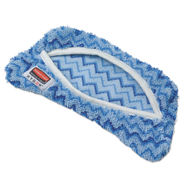 Rubbermaid Commercial Products Q891BLU Flexi Frame Microfiber Damp Mop Covers, Blue - 8 x 8 inch