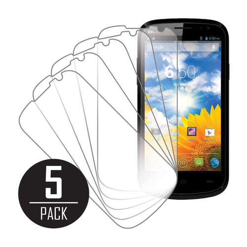 BLU Dash 4.5, Screen Protectors, 5-Pack, Clear