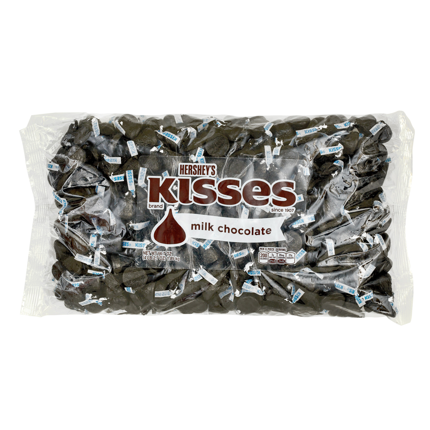 Kisses, Milk Chocolate Candy, Black Foil, 66.7 Oz - Online Only