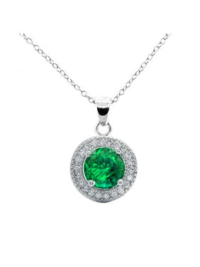d19b3cdf7f06a Product Image Cate   Chloe Mariah 18k White Gold Round Cut CZ Halo Gemstone Pendant  Necklace - Cubic
