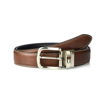 Tommy Hilfiger Men's Leather Reversible Belt 2' Leather Work Belt