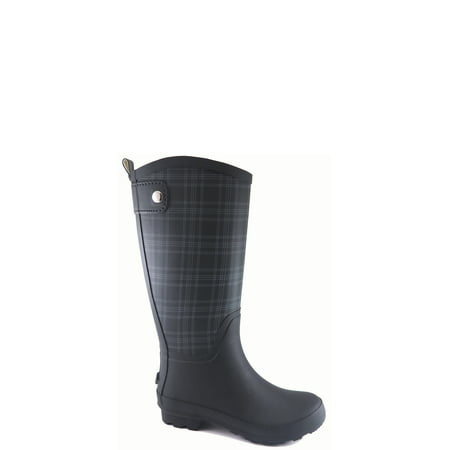 Time and True Women's Plaid Rain (Neoprene Front Boots)