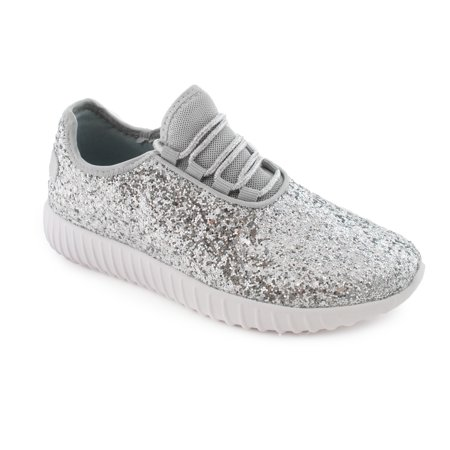 5c1e82650c SNJ - Women's Fashion Lace Up Rock Glitter Sneakers (FREE SHIPPING) -  Walmart.com