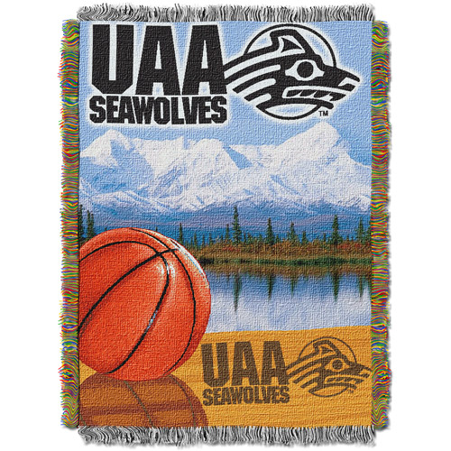 "NCAA 48"" x 60"" Home Field Advantage Series Tapestry Throw, Alaska Anchorage"