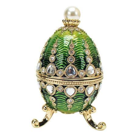 The Bogdana Collection Faberge-Style Enameled Egg: Veronika