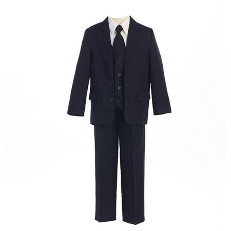 Sweet Kids Boys Navy 2 Button Jacket Vest Shirt Vest Tie Pants Suit 8-20