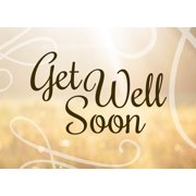 CEO Cards Get Well Greeting Card Box Set of 25 Cards & 26 Envelopes - GW1602