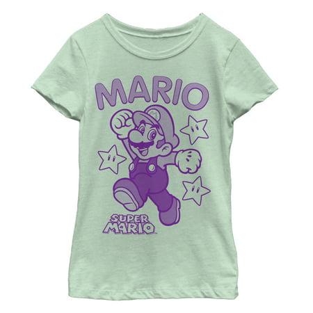 - Nintendo Girls' Mario Three Star Jump T-Shirt
