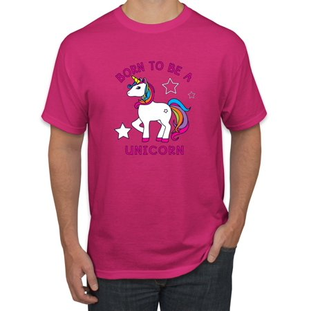 Born to be a Unicorn Mens Fashion Graphic T-Shirt