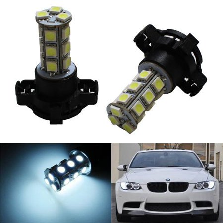 iJDMTOY Canbus Error Free 18-SMD PY24W LED Bulbs For Front Turn Signal Light Bulbs, Xenon